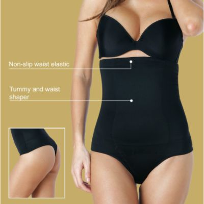 Dr. Rey Shapewear Women's High Waist Thong Panty