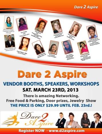 3rd Dare 2 Aspire Spring Conference