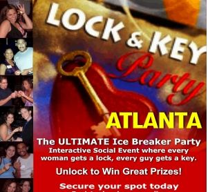 great date deals atlanta lock and key events singles party, ages 24-49