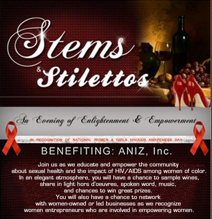 great date deals stems & stilettos benefitting Aniz, Inc.