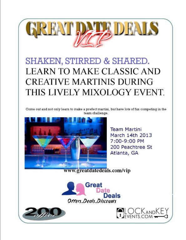 great date deals Svedka Martini Mixology Event