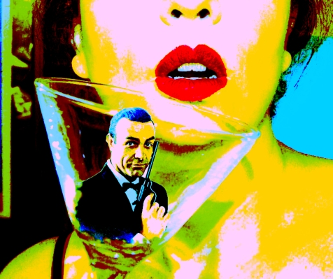James Bond Girls and Martini